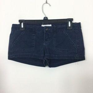 Hollister Size 0 Navy Blue Stretch Shorts